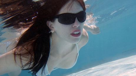 Sveta im Schwimmbad